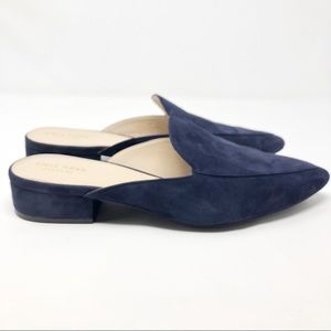Cole Haan Blue Suede Mules Size: 11